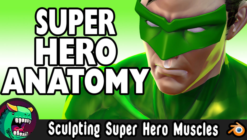 How sculpt superhero muscles in Blender