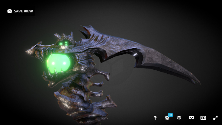 weapon design videogames real-time blender