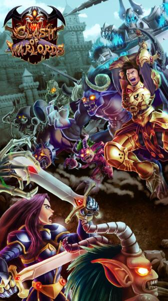 Splash screen Game Clash of Warlords